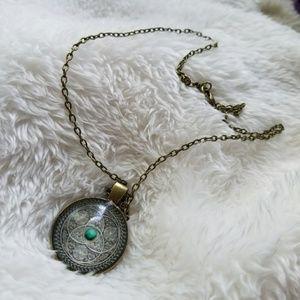 Jewelry - Celtic Turquoise Globe Pendant Necklace
